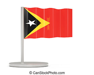 Pin with flag of east timor 3D illustration