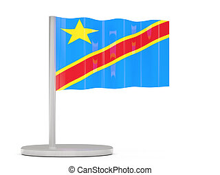 Pin with flag of democratic republic of the congo 3D...