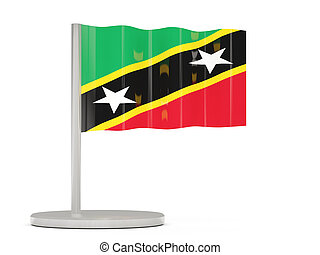 Pin with flag of saint kitts and nevis