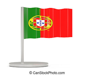 Pin with flag of portugal