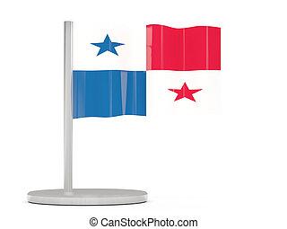 alfiler, con, bandera, de, Panamá,