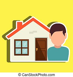 Homeowner outside design, vector illustration eps10 graphic