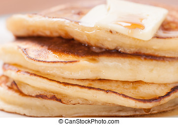stack of home made pancakes - delicious pancakes in a stack...