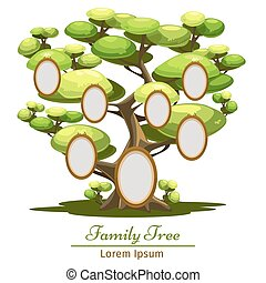 business concept set - Family Tree Vector illustration of...