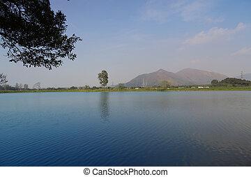 lake at Shan Pui Tsuen  - the lake at Shan Pui Tsuen