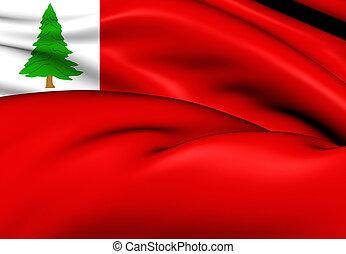Flag of New England (Pine), USA. - 3D Flag of New England...