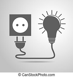 Plug, socket and light bulb