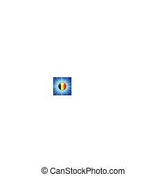 belgium Flag Icon on Internet Button