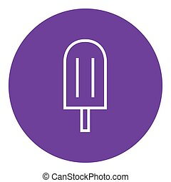 Popsicle line icon - Popsicle thick line icon with pointed...