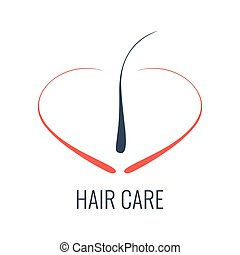 Hair care follicle icon - Hair care logo. Hair follicle...
