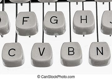 Cartas, de, Un, Máquina de escribir,