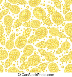 yellow pineapple seamless pattern