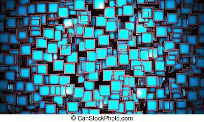cubes 3d blue background
