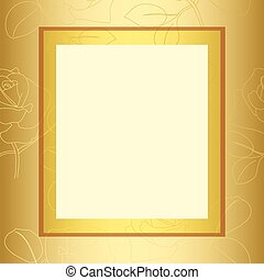 frame with gold floral pattern