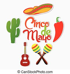 Cinco De Mayo - creative vector abstract for Cinco De Mayo...