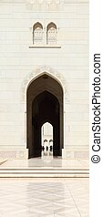 Sultan Qaboos Grand Mosque - The famous landmark in muscat,...