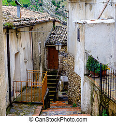Typical street of a little village in southern Italy