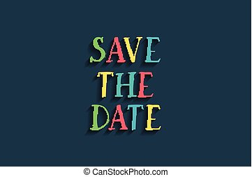 Save the date card For web and mobile icon isolated on...