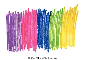 the flag of sexual minorities pens. Vector illustration