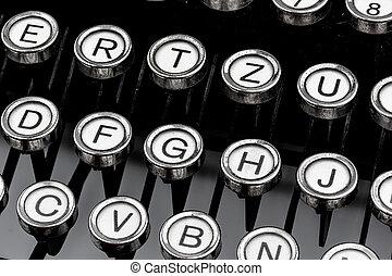 a typewriter keyboard - keys of an old typewriter symbol...