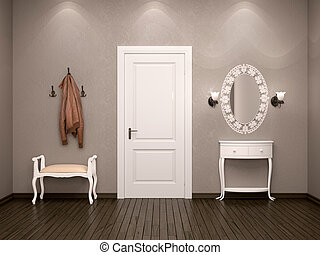 3d illustration of the design of the ambience hallway in...
