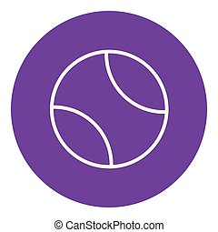 Tennis ball line icon. - Tennis ball thick line icon with...