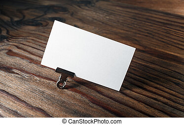 Blank business card - Photo of blank business card with soft...