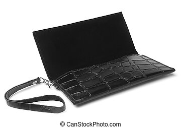 Clutch bag on white background