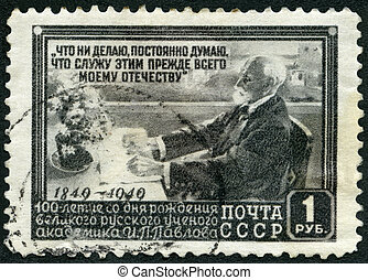 USSR - 1949: shows Ivan Petrovich Pavlov 1849-1936, Russian...