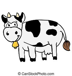 cow cartoon illustration