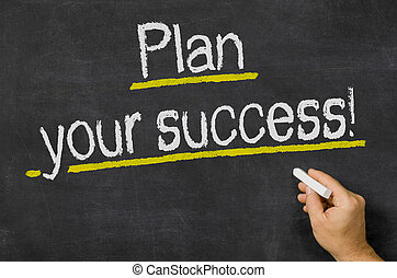 Plan your success written on a blackboard