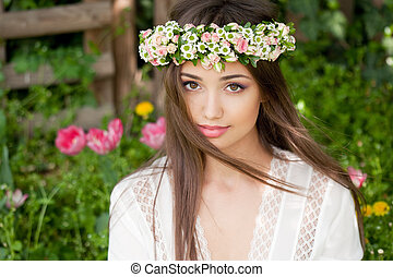Amazing spring beauty. - Outdoors portrait of an amazing...