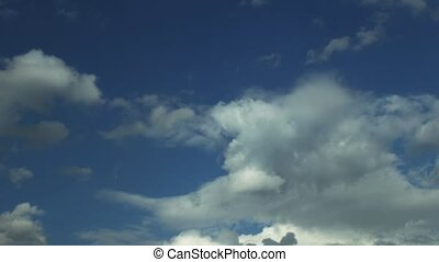 Cumulus clouds time lapse - atmosphere Cumulus clouds time...