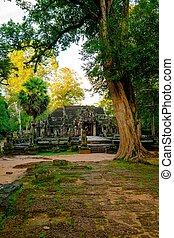 Banteay kdei temple, Angkor, Siem Reap, CambodiaSra -...