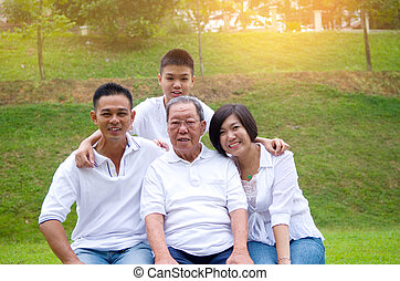 Multi-Generation Chinese Family - Portrait Of...