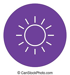 Sun line icon - Sun thick line icon with pointed corners and...