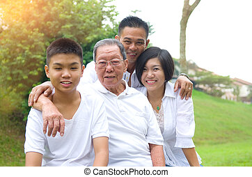 Multi-Generation Asian Family - Portrait Of Multi-Generation...