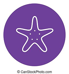 Starfish line icon - Starfish thick line icon with pointed...