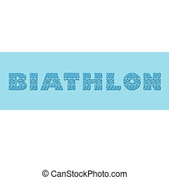 Biathlon blue banner - Blue banner with biathlon sample text...