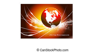 Globe on Abstract Modern Light Background