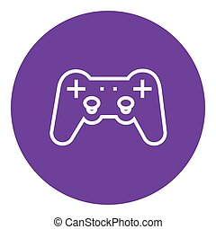 Joystick line icon - Joystick thick line icon with pointed...