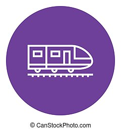 Modern high speed train line icon - Modern high speed train...