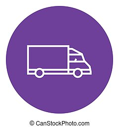 Delivery truck line icon - Delivery truck thick line icon...