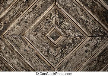 Grey Diamond Pattern wooden Door De