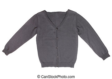 Children's cardigan isolated on white background