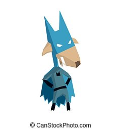 Goat Super Hero Character Flat Geometrical Design Cool...