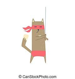 Samurai Cat With Sword