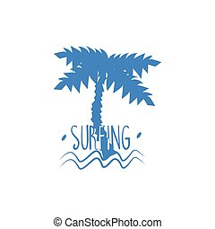 Palm Tree With Text Print