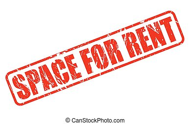 SPACE FOR RENT red stamp text on white