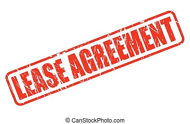 LEASE AGREEMENT red stamp text on white